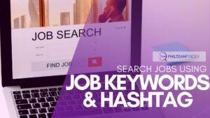 Search Jobs using Job keywords and hashtag